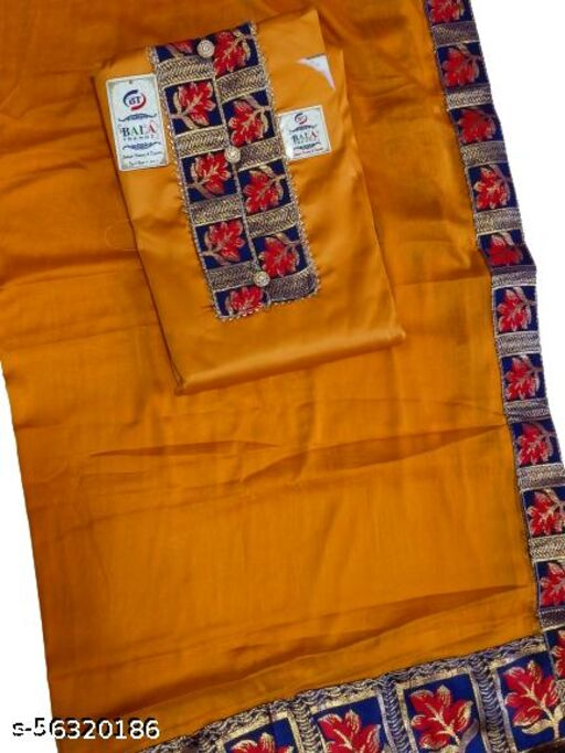Trendy yellow All Over suit with Cotton Border And Dupatta