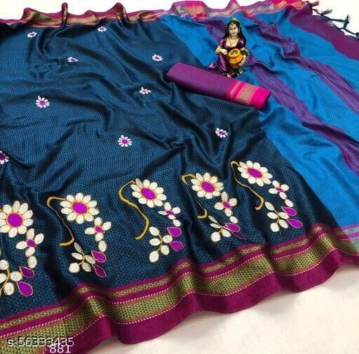 Designer fancy embroidered wedding and festive collection saree