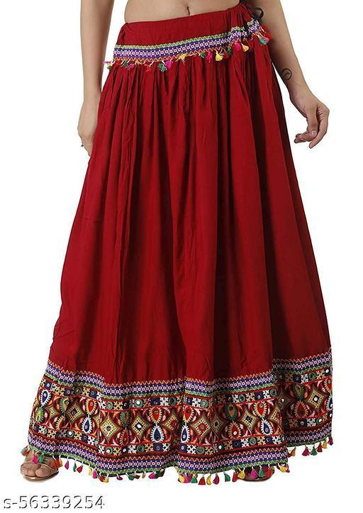 Pari's Traditional Heavy Border Lace Work Ethnic Women Long Skirt