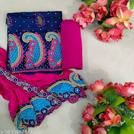 Classiy Margenta Suit with Very Heavy Dupatta