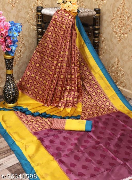 100 Dreams Pretty Kalamkari Art Silk Saree