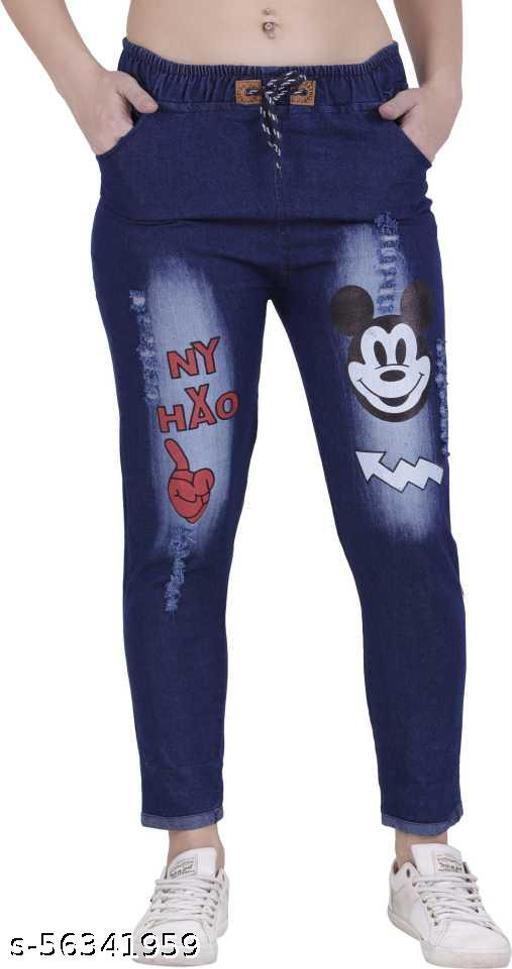 Denim Mickey Dark Blue Jogger- Jeans