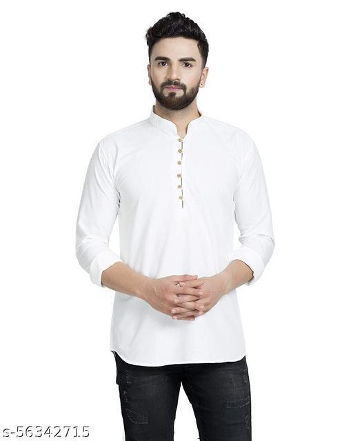Men's Cotton Angrakha Kurta