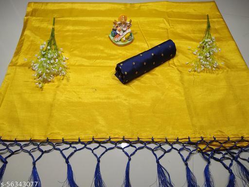 CT 103 Yellow Ganesh Saree