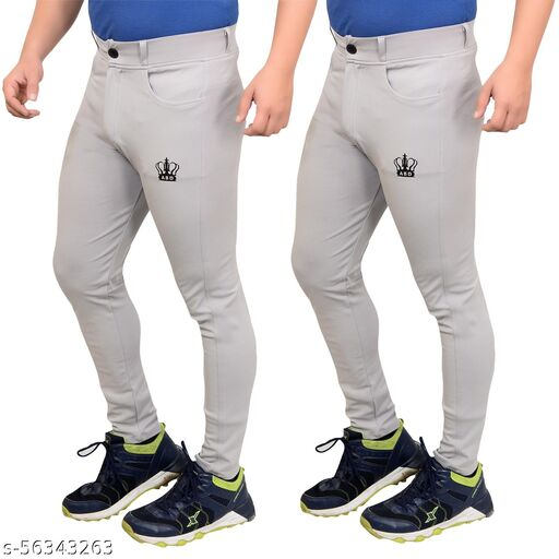 ABD Active Wear Men's Comfortable Track Pants (Pack of 2)