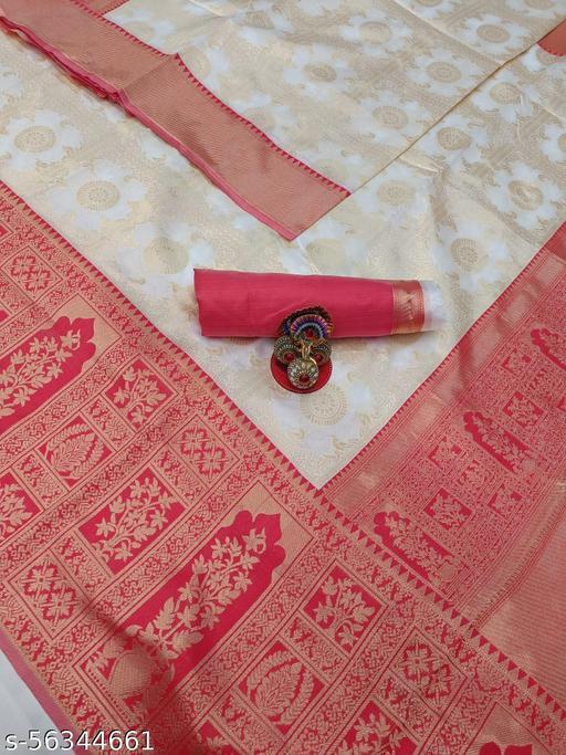 Ladies Designer Beautiful Look Exclusive Litchi Silk Saree