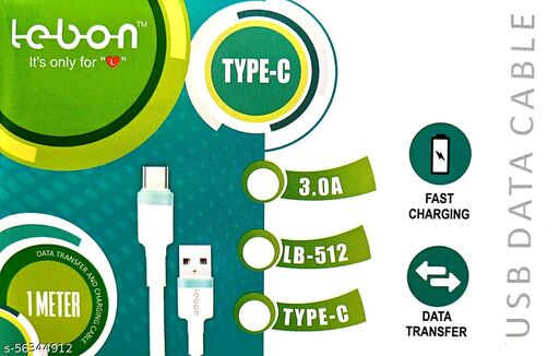 Unbreakable 3A Fast Charging Braided Type C Cable