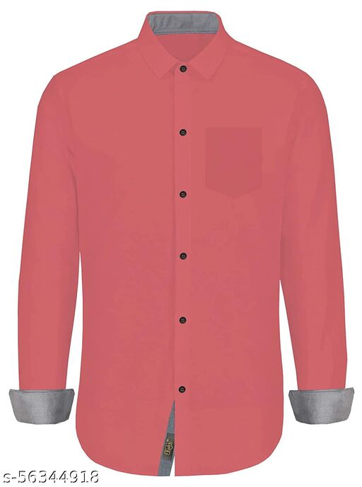 Fashion nut-Men's Regular Fit Stylish Full Sleeve Shirts (Multi Color)