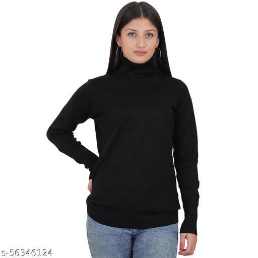 Malachi Women's Turtle Neck Sweater Top