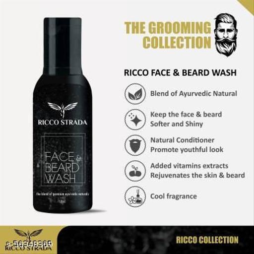 RICCO STRADA Face Wash & Beard Wash made from Premium Natural Ingredients - 50 ml  (50 ml)