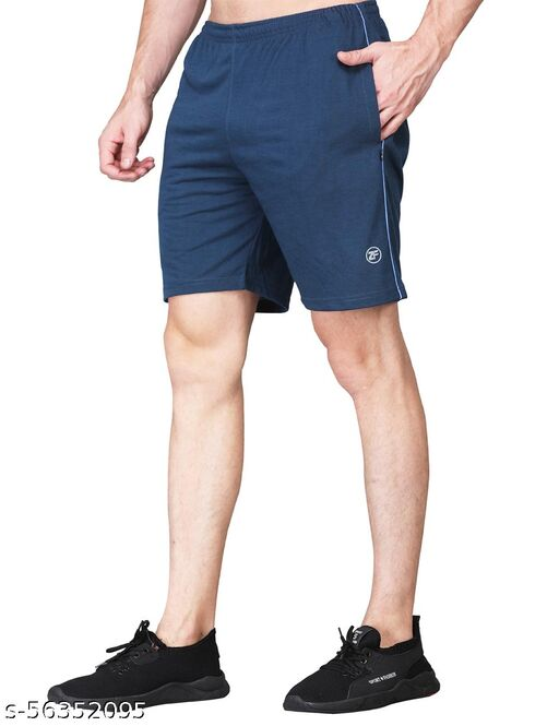 ZIMFIT Men's Stylish Shorts (Pack of 1) with side Zip & Pockets for Running, Yoga, Gym, Regular or Casual wear
