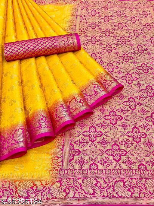 Women's Banarasi Silk Saree New Designer Collection