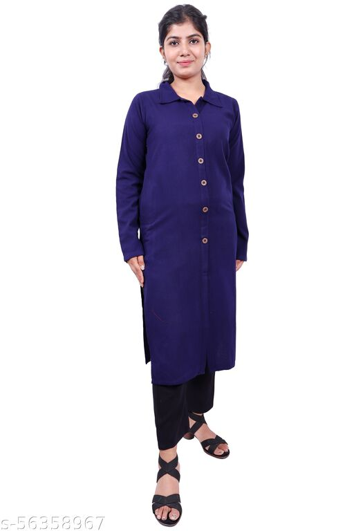 Plus Size Woman's Winter Wear Kurta  (3xl-4xl-5xl)