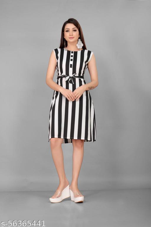 TRISHIV Black dress printed pattern