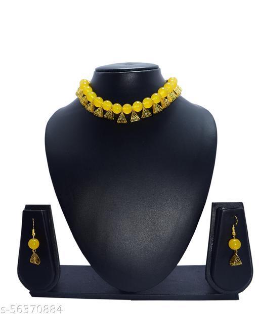 Lemon Yellow Jewelry for women & baby girl Jewellery Set