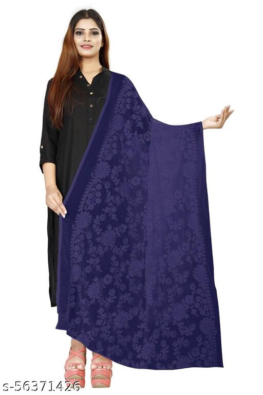 PURE AZLIN DUPATTA WITH BEAUTIFUL MULTI THRED EMBRODERY WORK