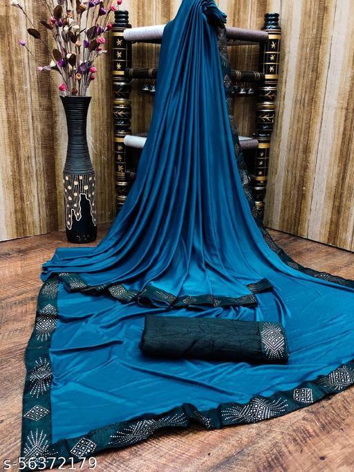 Women Fancy Lycra Blend Saree