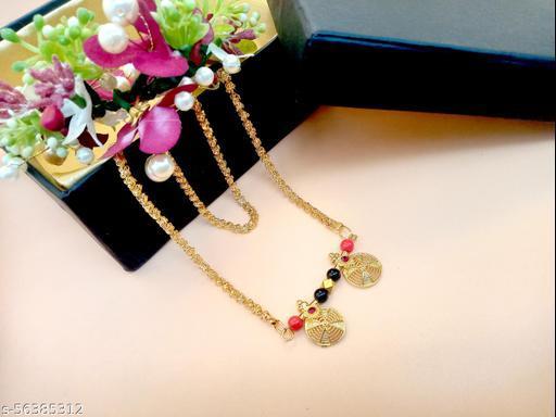 Gold Plated Letest & Designer VATI Mangalsutra For Women-100546