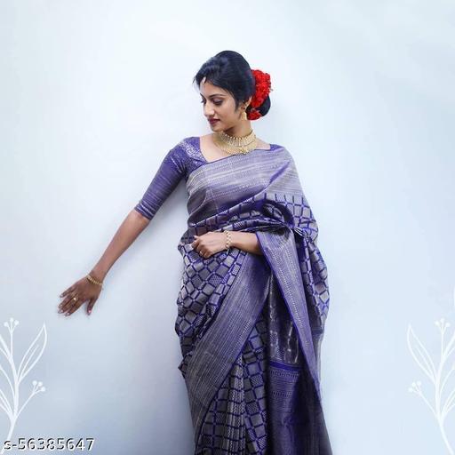 Breathable Organic Banarasi Purple Saree