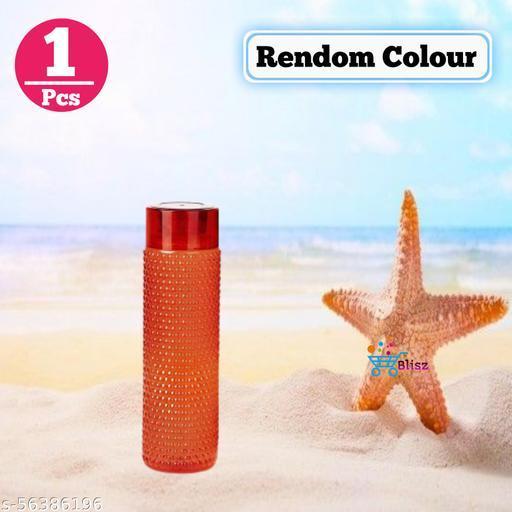 Connex Plastic Water Bottle Bubble/Diamond Design For Fridge, Kids, School, College & Office BPA Free 1 Litre (Pack Of_1, Multicolor)