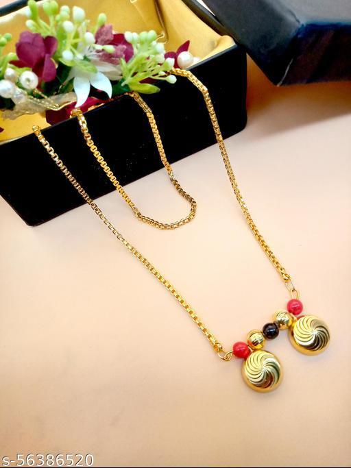 Gold Plated Letest & Designer VATI Mangalsutra For Women-100549