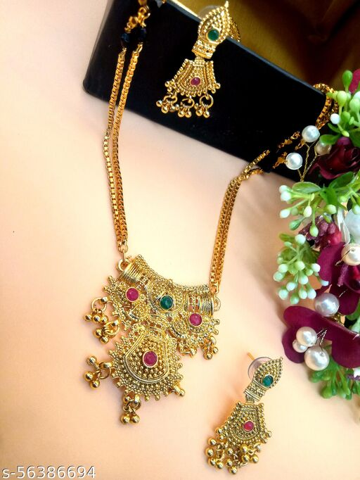 Gold Plated Letest & Designer Mangalsutra For Women-100537