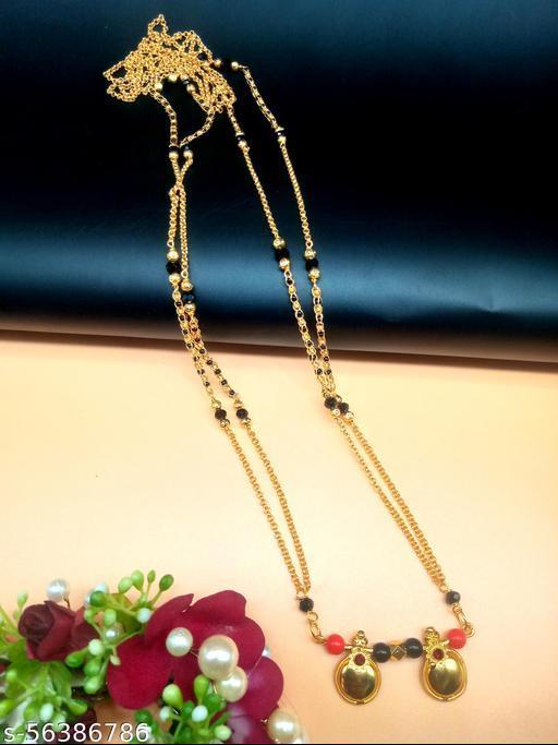 Gold Plated Letest & Designer VATI Mangalsutra For Women-100523