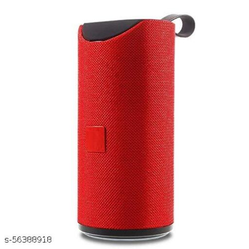 TG - 113 Portable Bluetooth Speaker with Super deep Bass Wireless Rechargeable Bluetooth Speaker Support TF/USB/Pen Drive/AUX (RED)