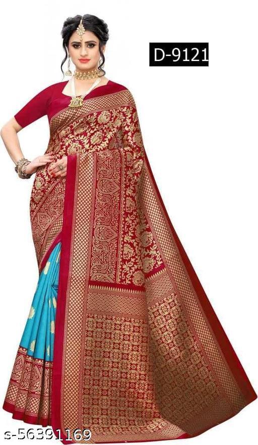 Women's beautiful printed art silk saree