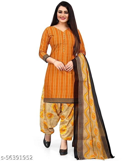 Anny Deziner  Women's Cotton Printed Salwar Suit Material With Printed Dupatta (Free Size_Unstitched_)