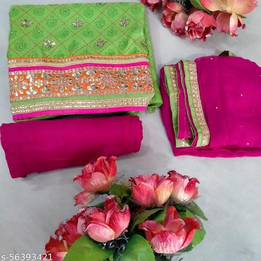 Parrot shade pure cotton salwar suit Material