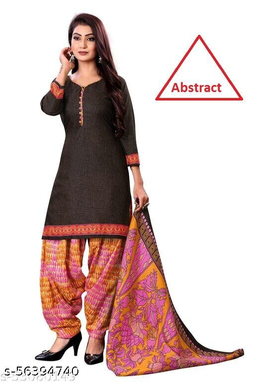 Dutt Textiles Same as In Image No different Printed Color Unstitched Salwar Suit/Kameez Dress Material For Womens & Girls All For Occation