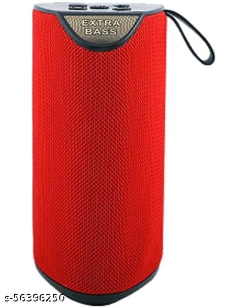 Wireless Bluetooth Speakers Mega Bass Splash Proof, USB, FM, TF Card and AUX Cable Pen Drive Supported (RED)