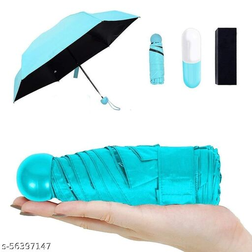 Kiddly Ultra Lights and Small Mini Umbrella with Cute Capsule Case, 5 Folding Compact Pocket Umbrella, Especially for Women, Men, Kids