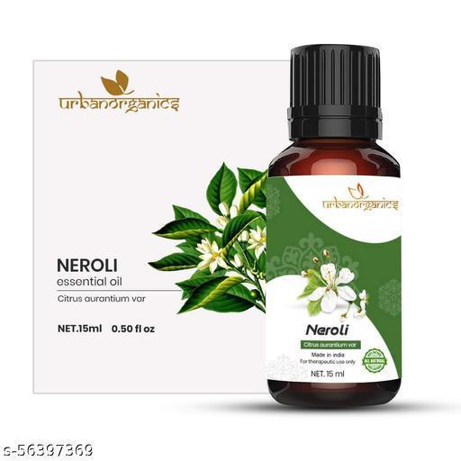 Urbanorganics Pure NEROLI Essential Oil (Citrus aurantium) For Hair & Skin Undiluted, Therapeutic Grade, Excellent for Aromatherapy 15ML