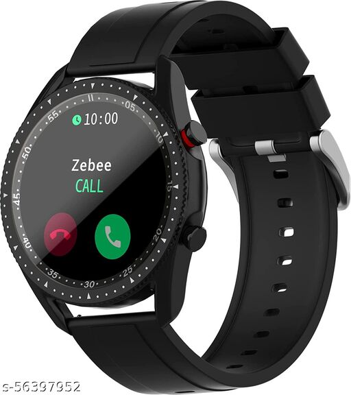 Zebronics ZEB-FIT4220CH Smart Fitness Watch with Call Function via Built-in Speaker and Mic, SpO2, BP & Heart Rate Monitor, IP67 Water Resistant, 7 Sports Mode (Black)