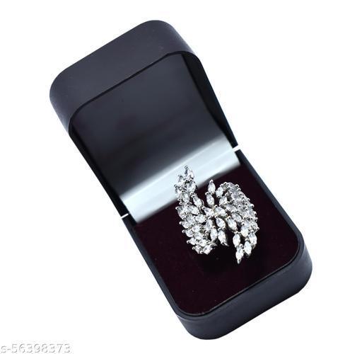 White Stone, Classical Design Ring For Women