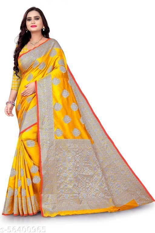 banarasi cotton silk saree with beautiful rich pallu and unique design