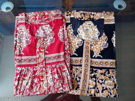100% Cotton Printed Nighty/NightGown/Night Dress