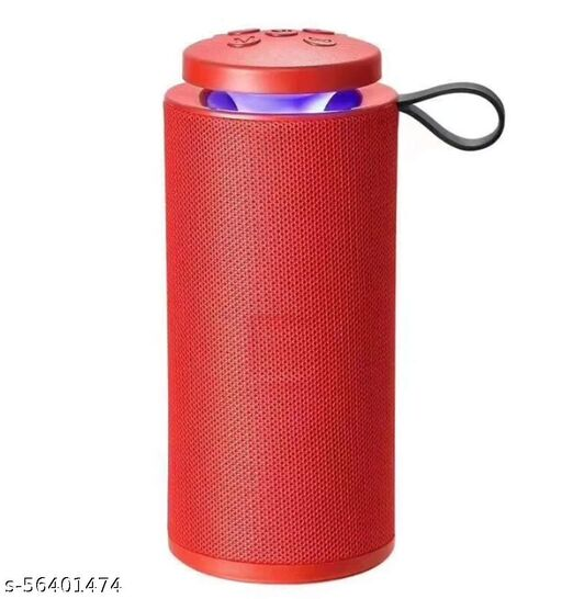 Wireless Speaker with Inbuilt Mic, USB, TF Card and AUX Slot 10 watt Supported with All Bluetooth Enabled Devices (Red)