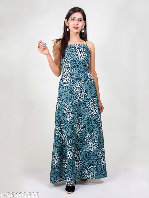 Designer Leopard Print fit and flare dress