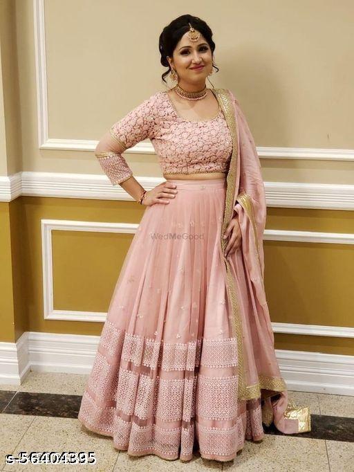 new pink lehenga choli for women