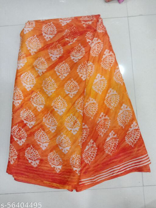 Chiffon Printed Designer Party Wear Saree Without Blouse