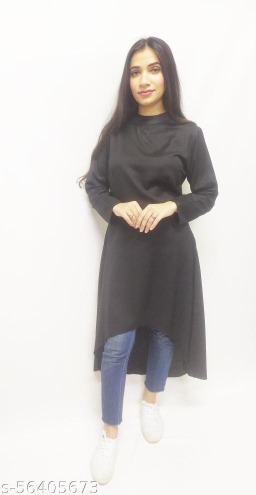 Casual Regular Sleeves Solid Women Black Dress