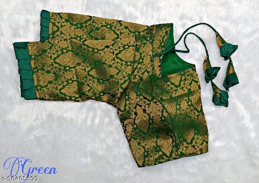 KAVRESHA Women's and Girl's beautiful  Heavy Katan bnarashi weaving blouse