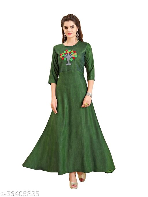 LAZZOLICA Women's Fancy Art Silk Gown