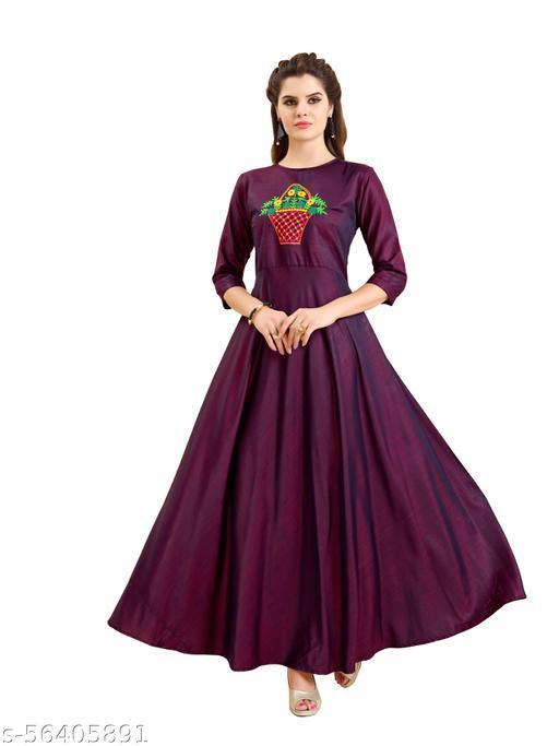 Women's Fancy Art Silk Gown