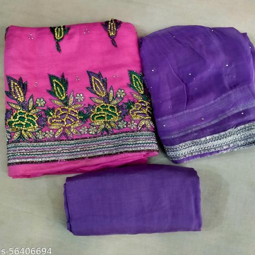 Margenta pure Silk Salwar suit Material