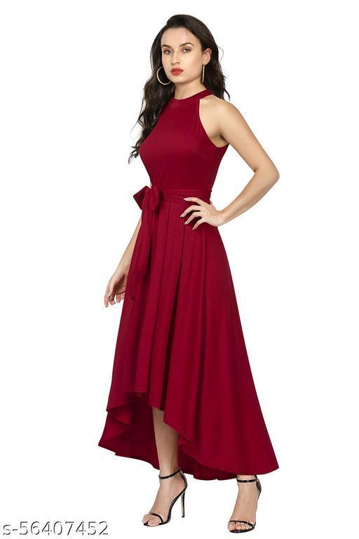 Vesh Bana Maroon Party Dress for Girls