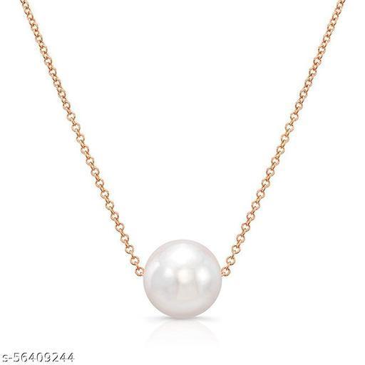 STYLISH FASHION HUB White Pearl Satari Chain (N C)